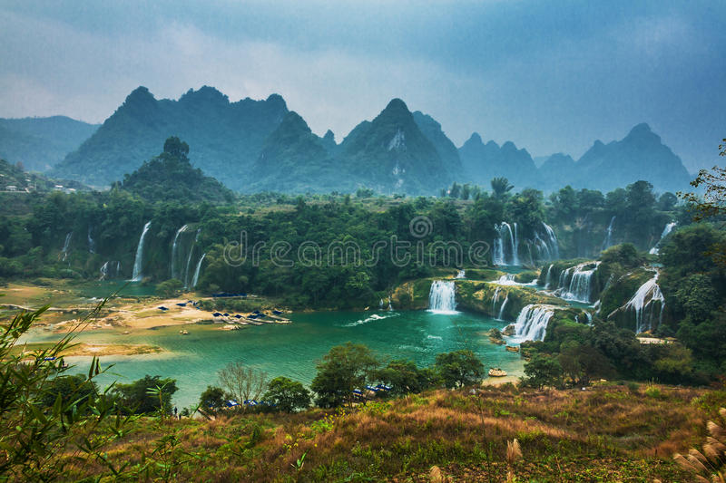 Detianwaterval in China stock fotografie