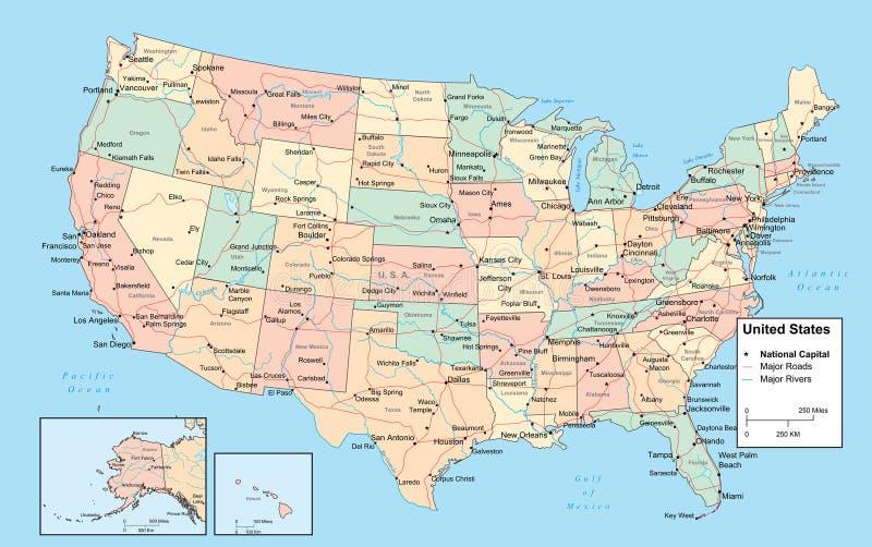 Usa Karte Vektor Abbildung Illustration Von Land Vereinigt