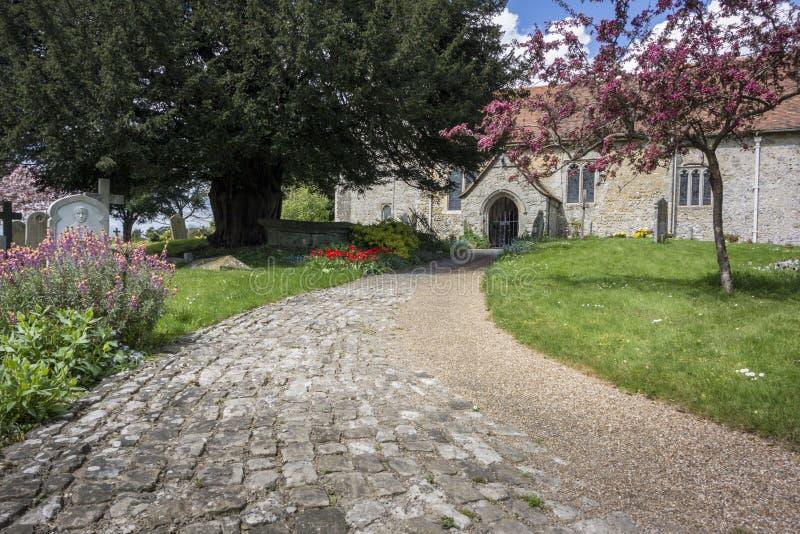 Detlings-Kirche, Kent, Großbritannien lizenzfreie stockfotografie