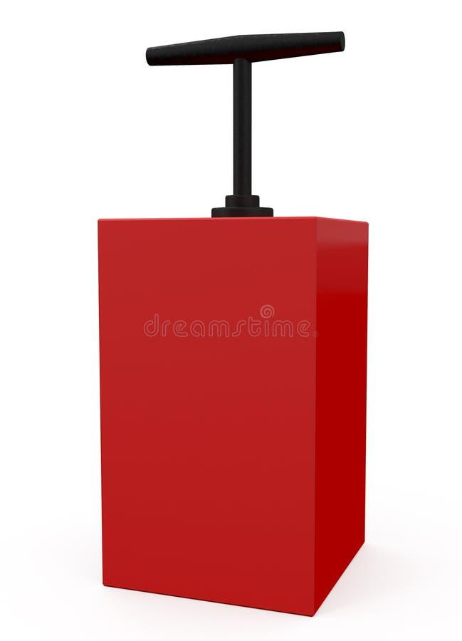 Download Detonator Red Isolated On White Stock Illustration - Illustration: 14578685