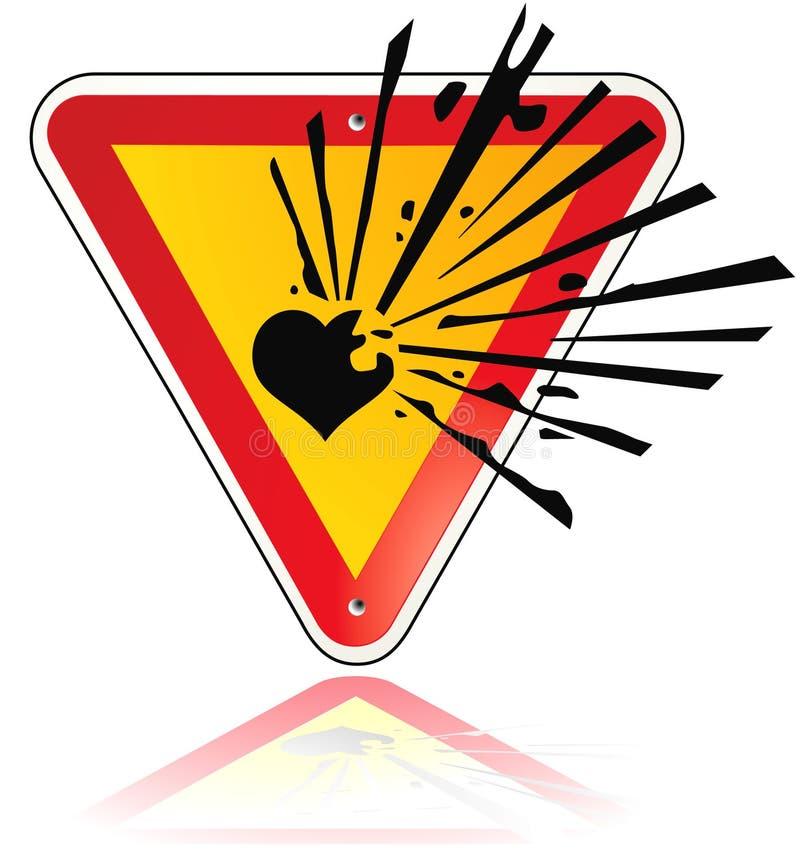 detonera hjärta till stock illustrationer