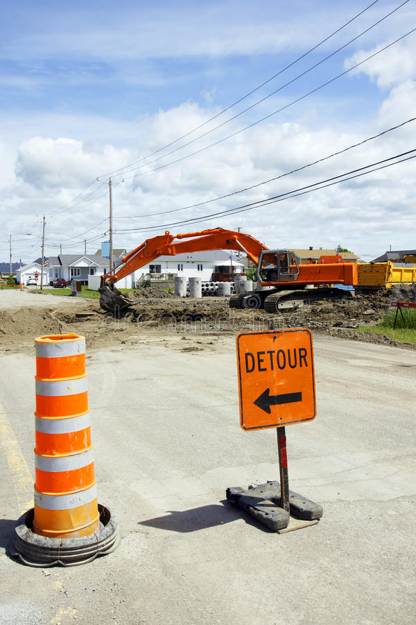 Download Detour digging the street stock image. Image of ground - 20008757