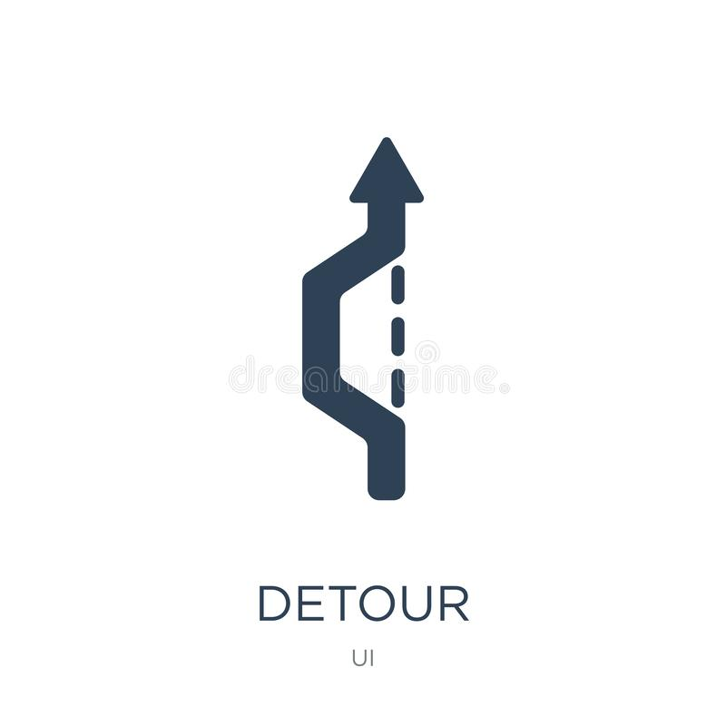 Free Detour Icon In Trendy Design Style. Detour Icon Isolated On White Background. Detour Vector Icon Simple And Modern Flat Symbol For Royalty Free Stock Image - 135753356