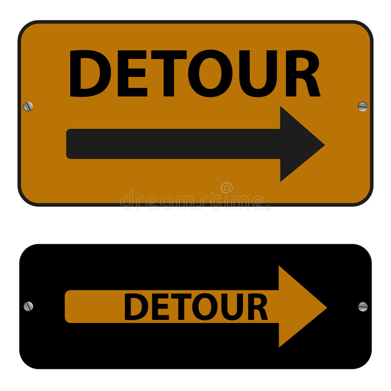 Free Detour Signs Stock Photography - 45374542