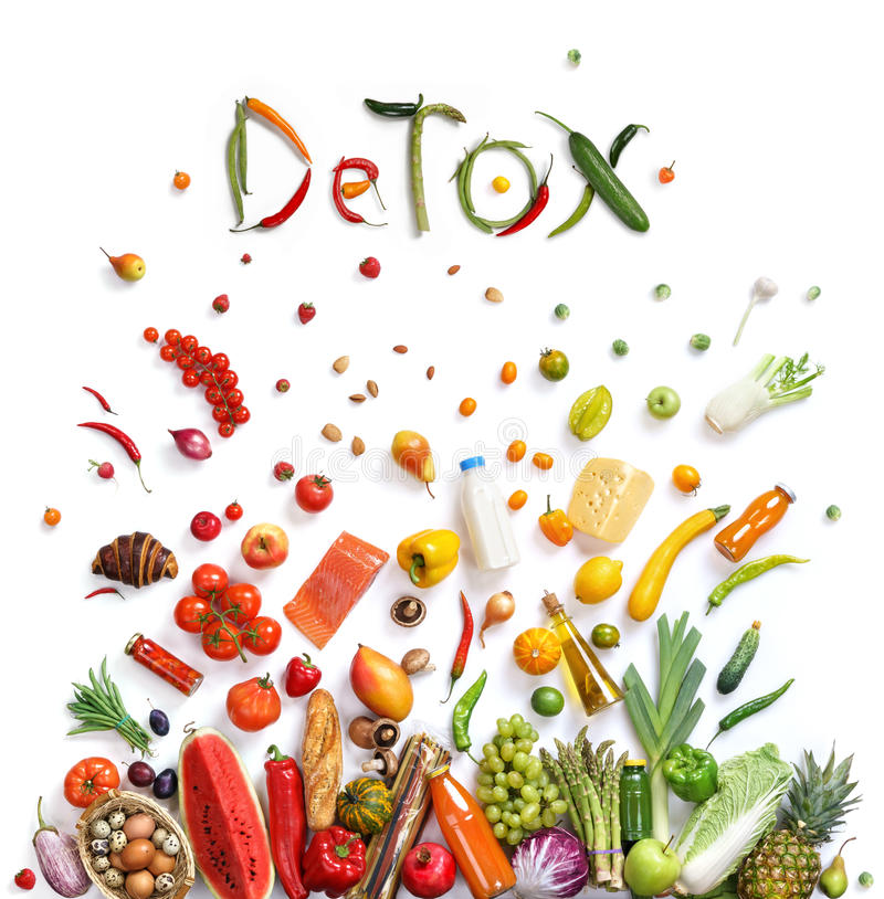 Detox, food choice royalty free stock photo