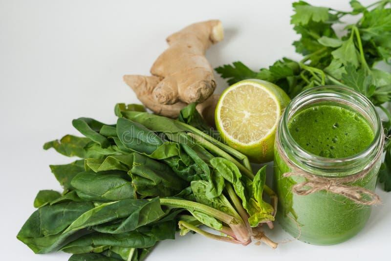 Detox green smoothie royalty free stock photo