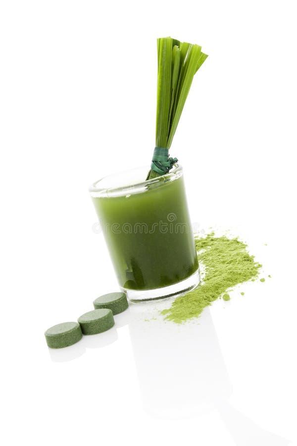 Detox. Groen voedselsupplement. royalty-vrije stock fotografie