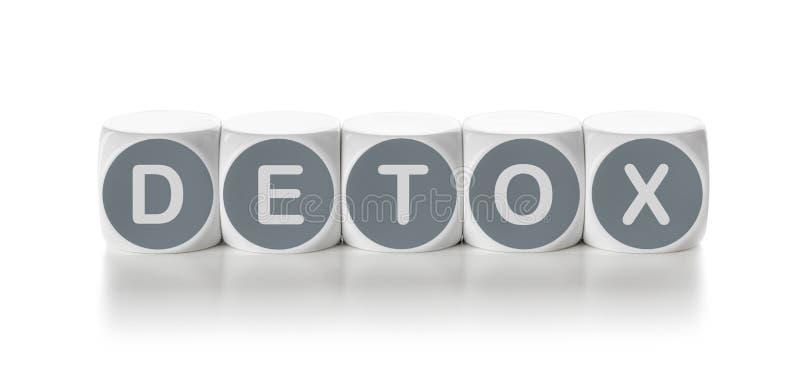 Detox. Letter dice on a white background - Detox stock photos
