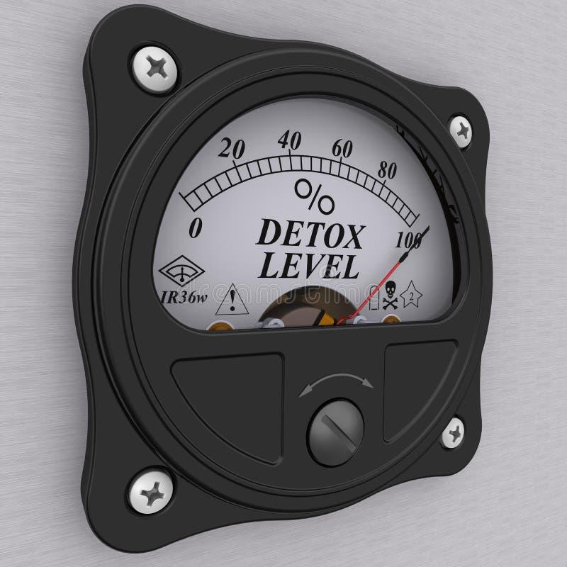 Detox level indicator royalty free illustration