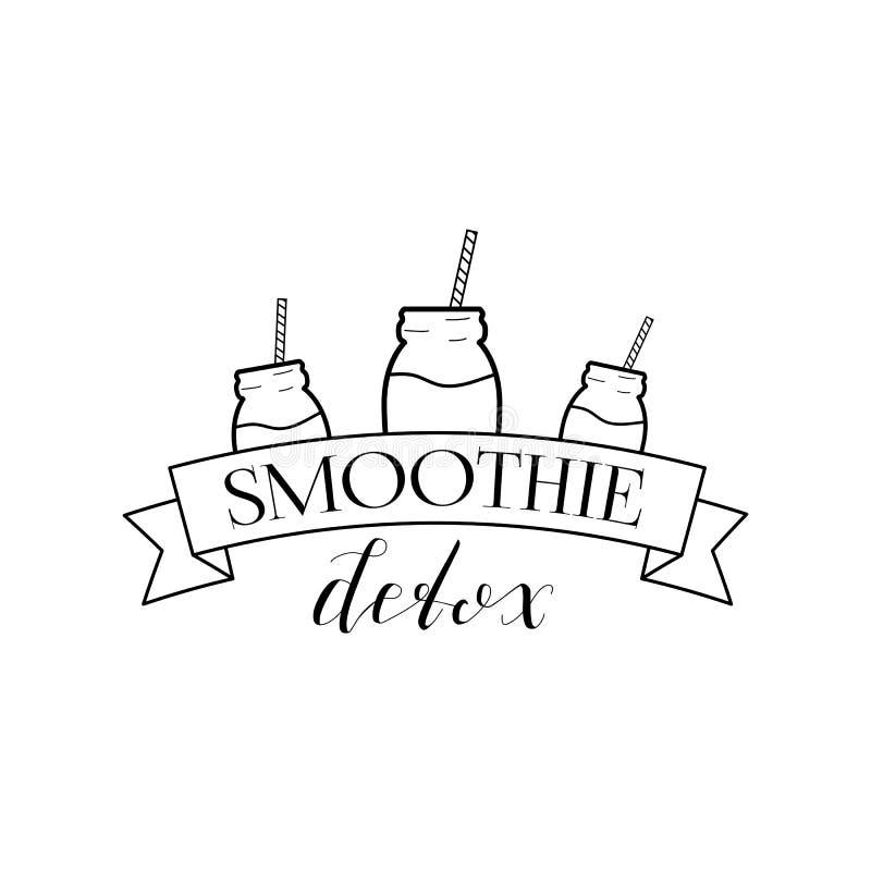 Detox Logo Isolated de Smoothie illustration stock