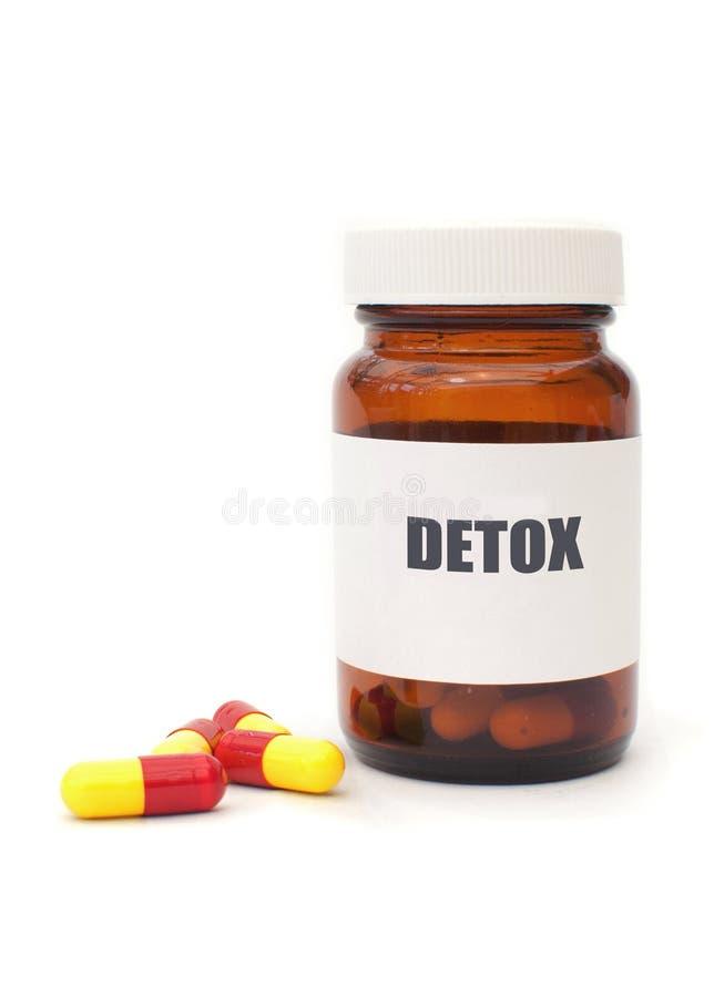 Detox pigułki zdjęcie stock