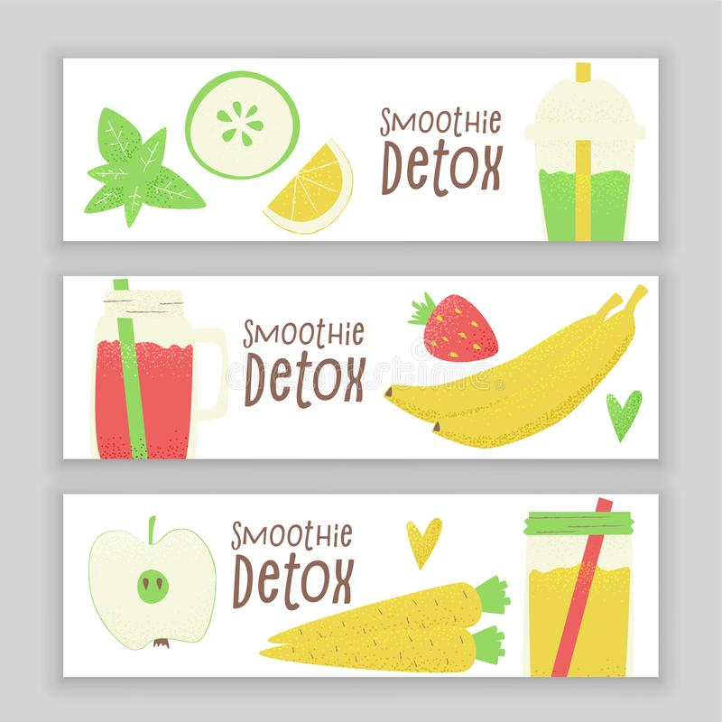 Detox Smoothie stock abbildung