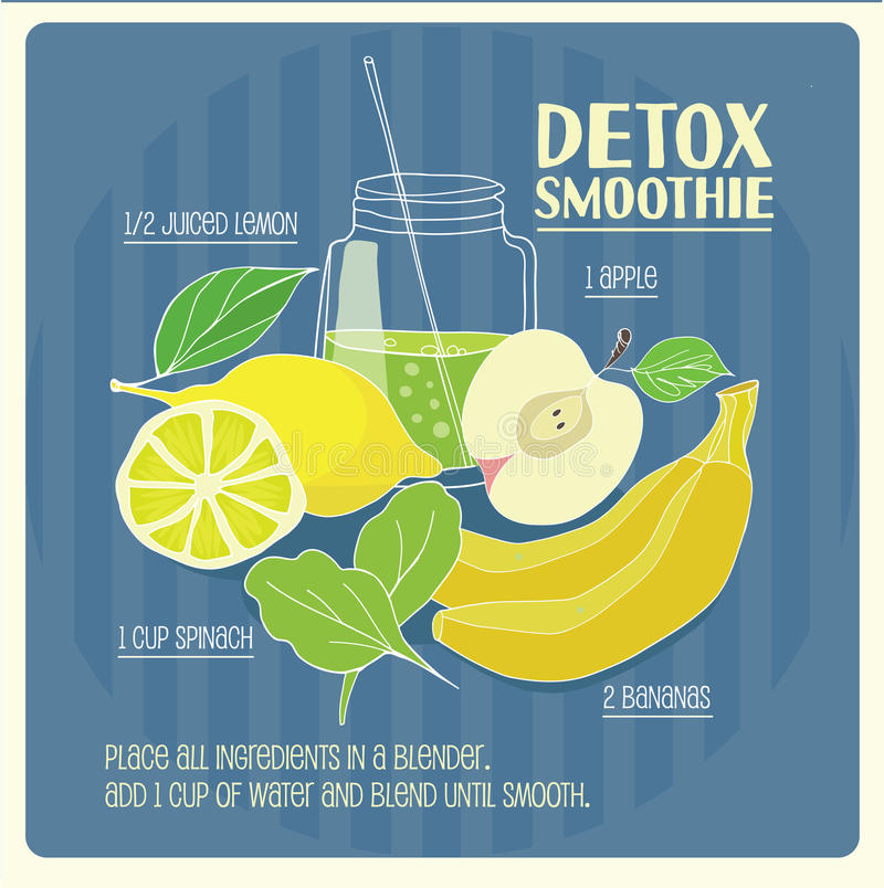 Detox smoothie stock illustratie