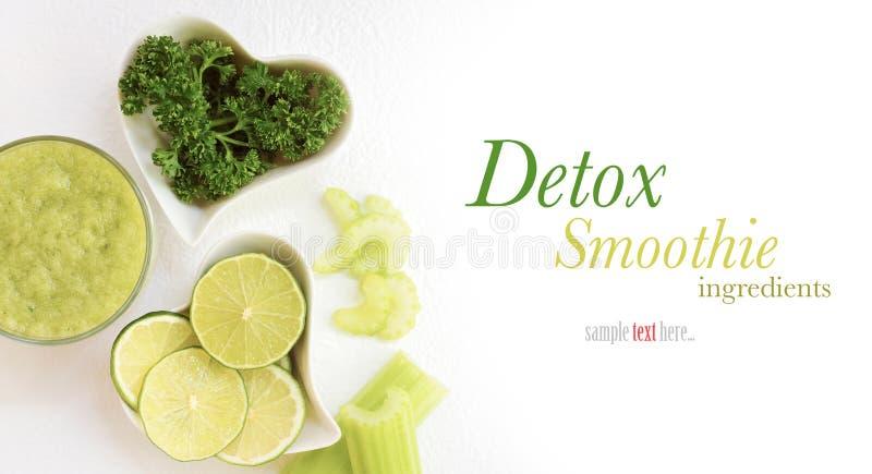 Detox smoothie ingredients royalty free stock images
