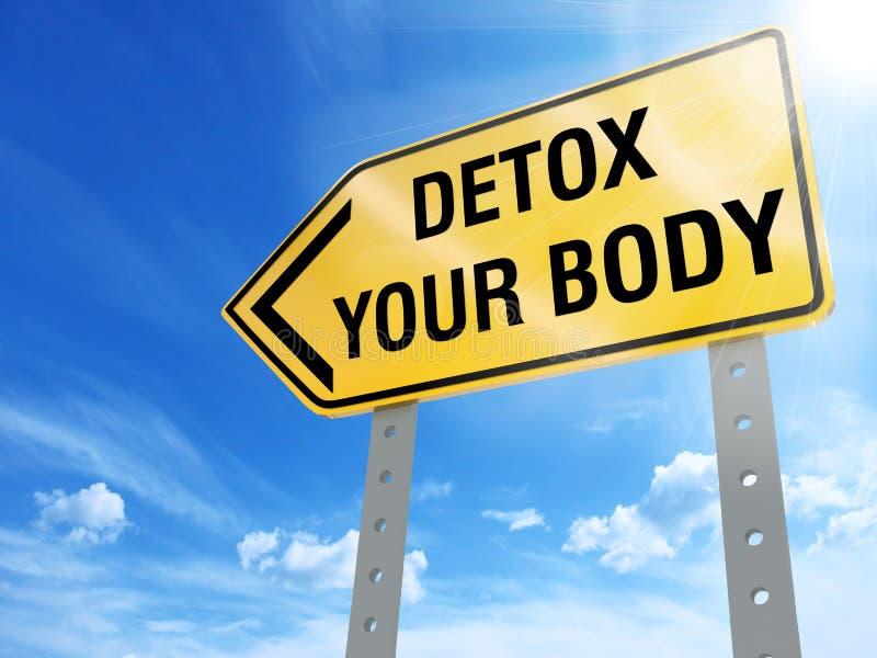 Detox uw lichaamsteken vector illustratie