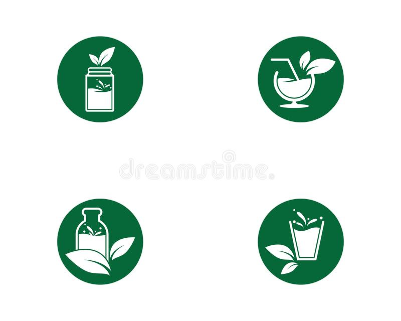 Detox water icon. Illustration, vector, drink, smoothie, food, jar, healthy, green, doodle, tea, recipe, leaf, fresh, drawn, glass, diet, collection, mason royalty free illustration