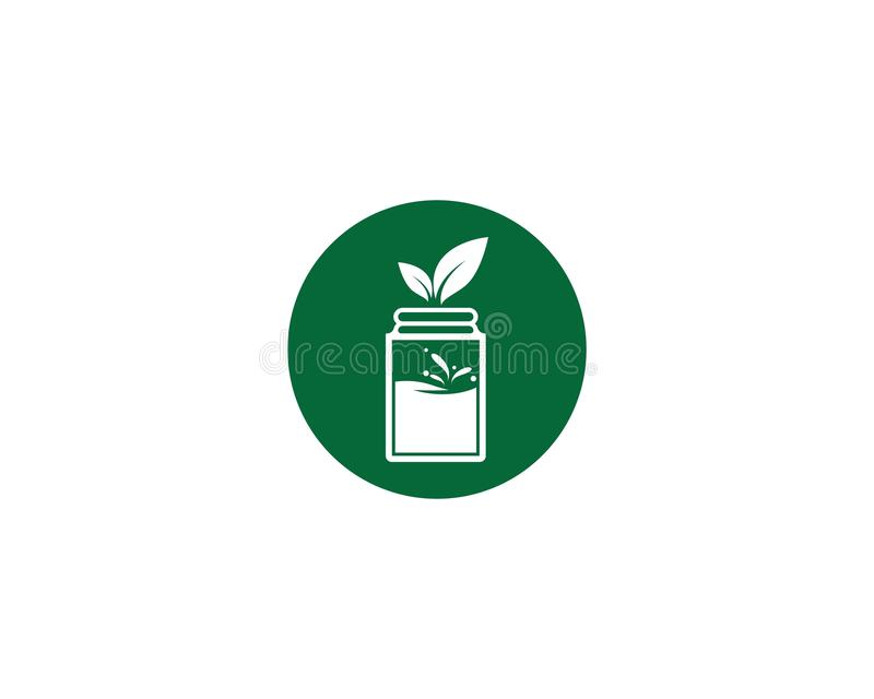 Detox water icon. Illustration, vector, drink, smoothie, food, jar, healthy, green, doodle, tea, recipe, leaf, fresh, drawn, glass, diet, collection, mason vector illustration