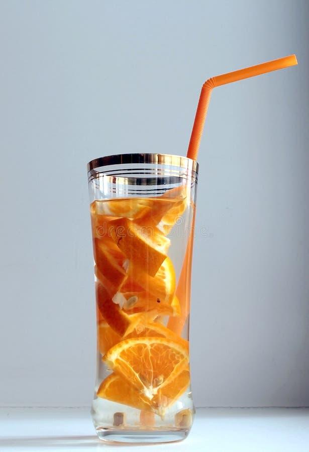 Detox wodny tangerine obraz stock
