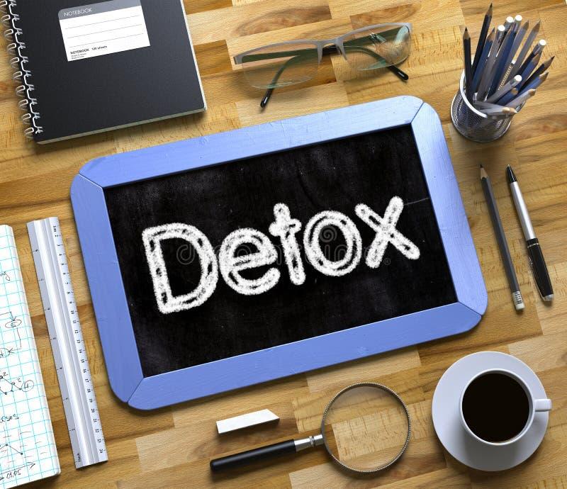 Detoxconcept op Klein Bord het 3d teruggeven stock illustratie