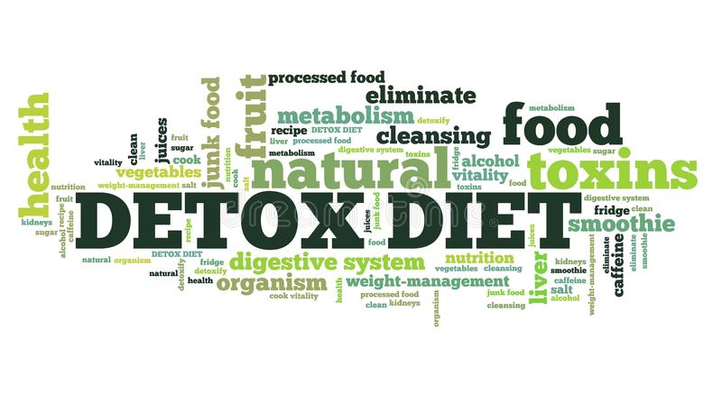 Detoxdieet vector illustratie