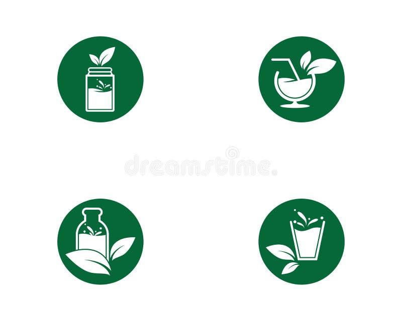 Detoxvattensymbol royaltyfri illustrationer