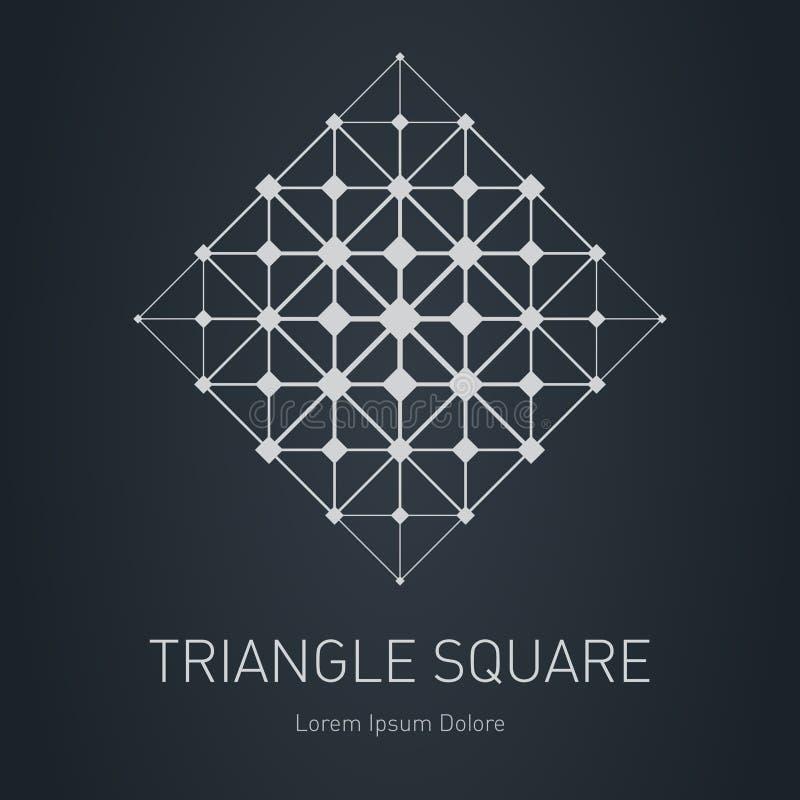 Detpoly ingreppet Modern stilfull logo Designbeståndsdel med squa vektor illustrationer