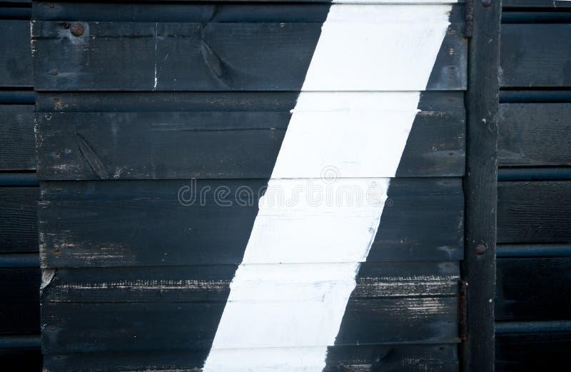 Detqil de la pared blanco y negro de una choza de la playa. imágenes de archivo libres de regalías