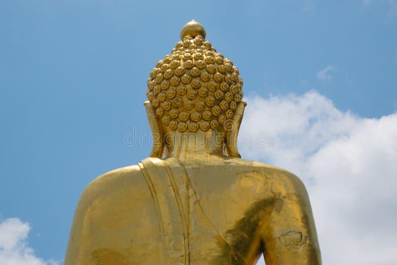 Detrás de la imagen de Buda fotografía de archivo libre de regalías