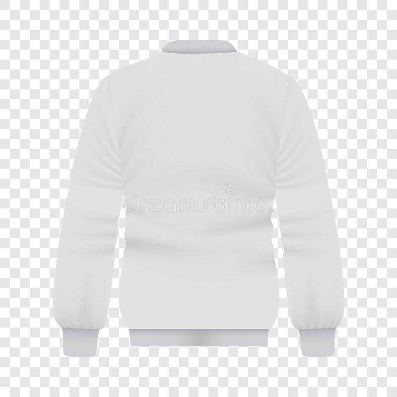 Detrás de la maqueta blanca de la chaqueta del béisbol libre illustration