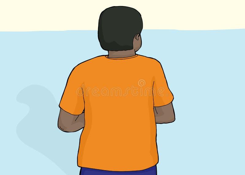 Detrás de la persona con la camisa en blanco libre illustration