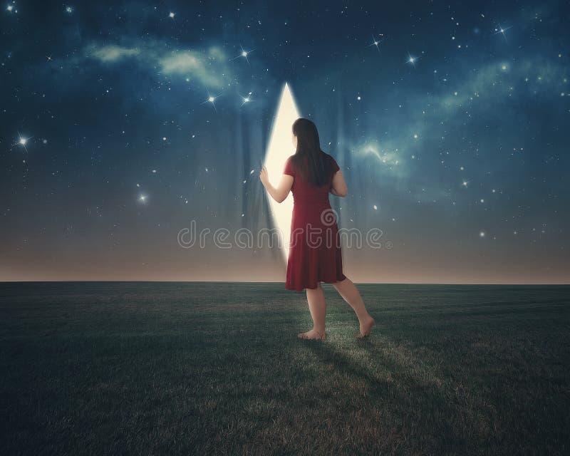 Detrás de las estrellas imágenes de archivo libres de regalías