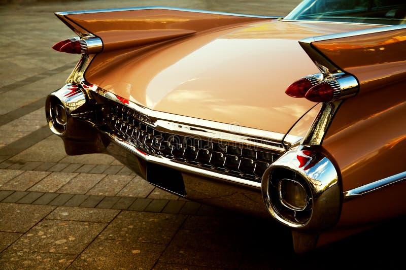 Detrás del coche de la vendimia fotos de archivo libres de regalías