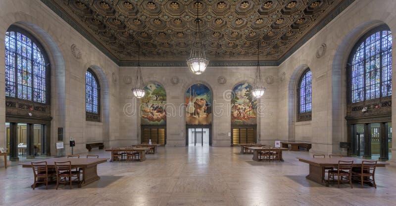 Detroit-öffentliche Bibliothek stockbilder