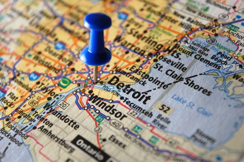 detroit Мичиган стоковые изображения rf