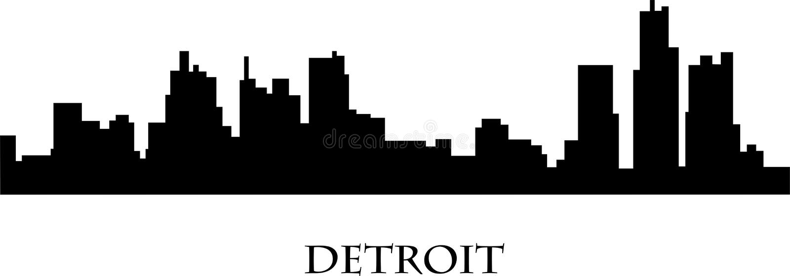 detroit illustration de vecteur
