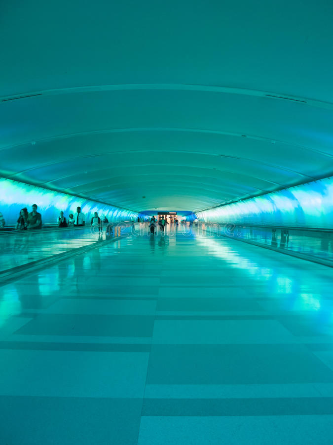 Free Detroit Airport Walkway - Teal Stock Photos - 32239783