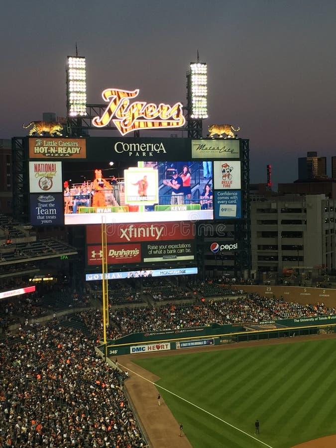 Detroit-Baseballspiel lizenzfreie stockfotos