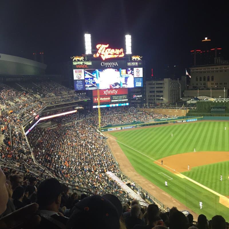 Detroit-Baseballspiel lizenzfreie stockbilder