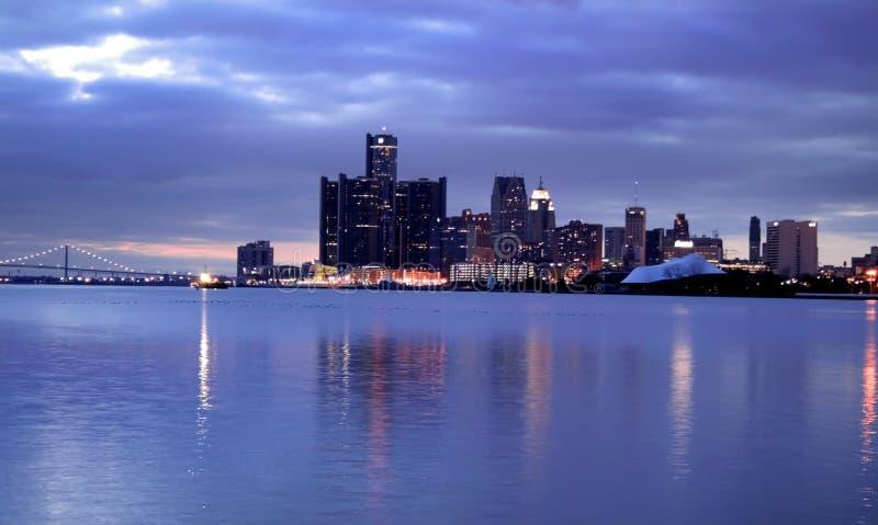 Detroit céntrica foto de archivo