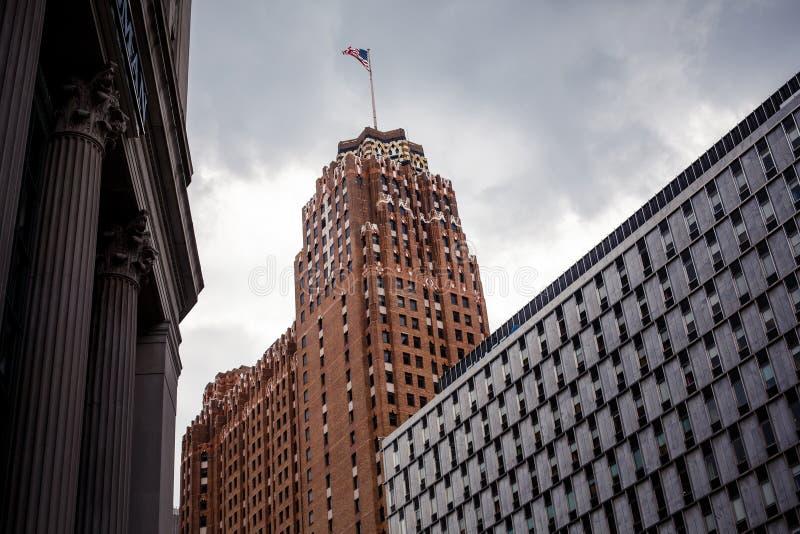 Detroit céntrica imágenes de archivo libres de regalías