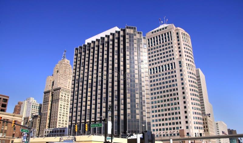 Detroit céntrica fotos de archivo libres de regalías