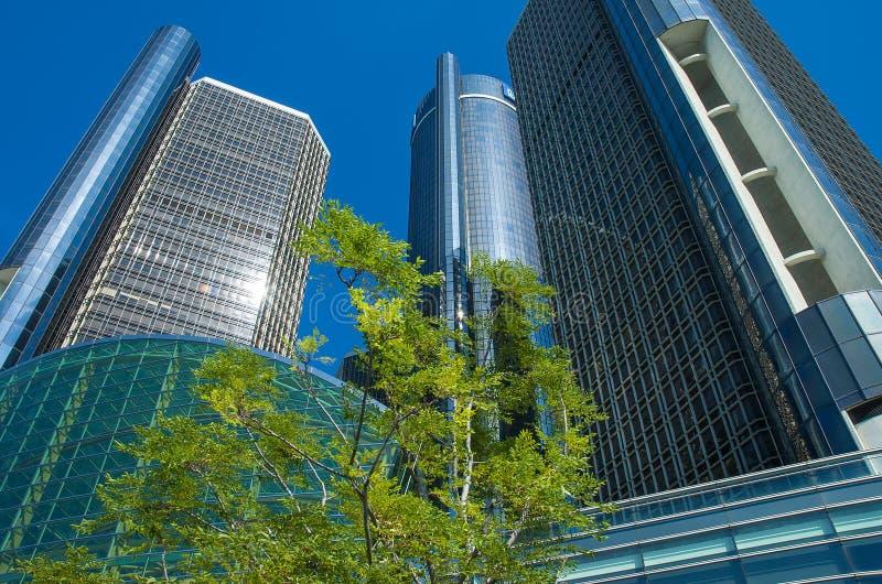 Detroit céntrica Archetcture fotografía de archivo libre de regalías