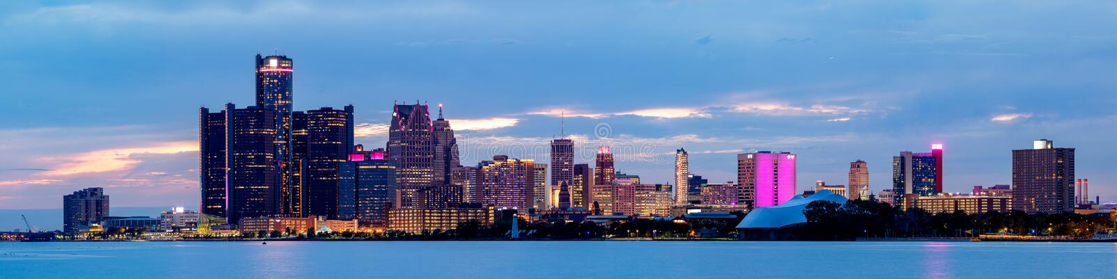 The City of Detroit royalty free stock photos