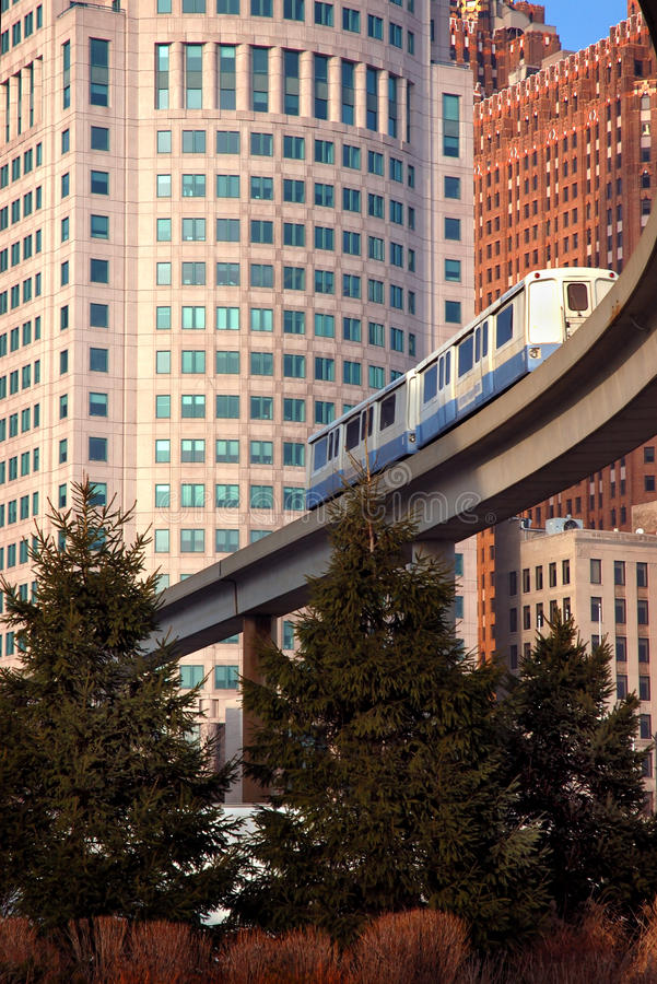 Free Detroit Commuter Monorail Royalty Free Stock Image - 11066936