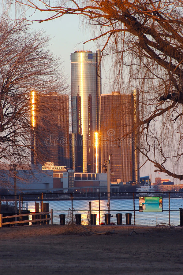 Detroit complexe RenCen royalty-vrije stock fotografie