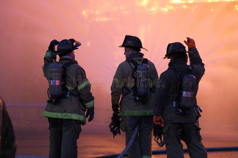 Detroit Firefighters stock images