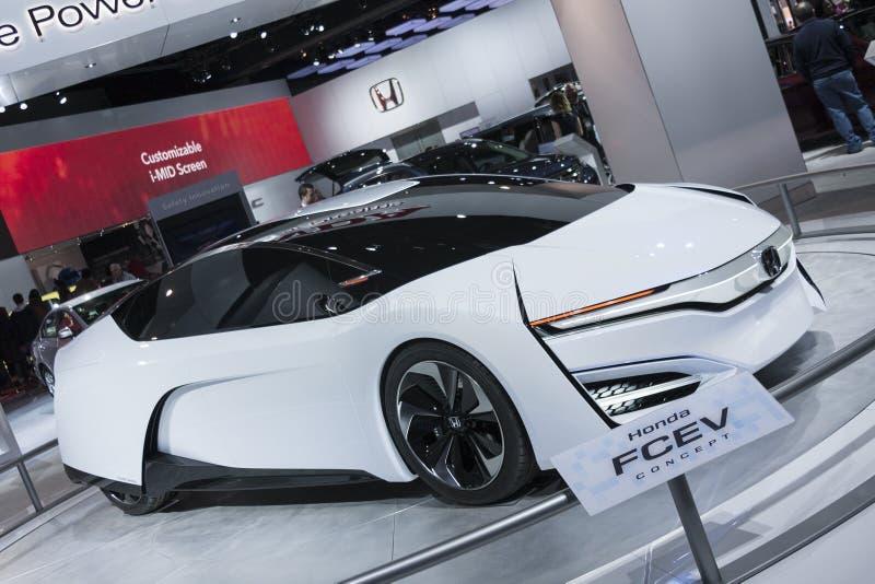 DETROIT - 26 GENNAIO: Il concetto di Honda FCEV al Americ del nord fotografie stock