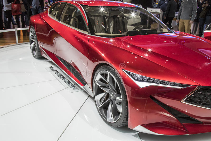DETROIT - JANUARY 17 :The acura precision concept at The North A royalty free stock images