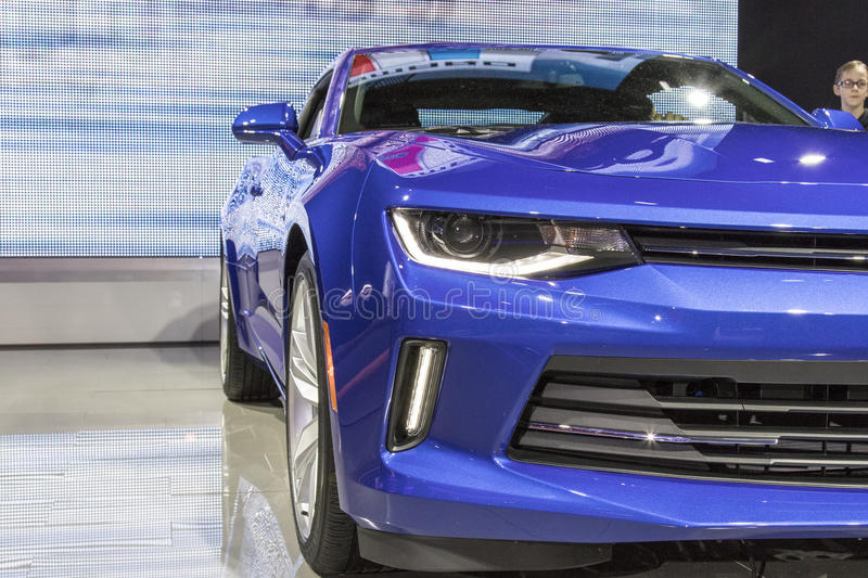 DETROIT - JANUARY 17 :The 2017 Chevrolet Camaro at The North American International Auto Show January 17, 2016 in stock photos
