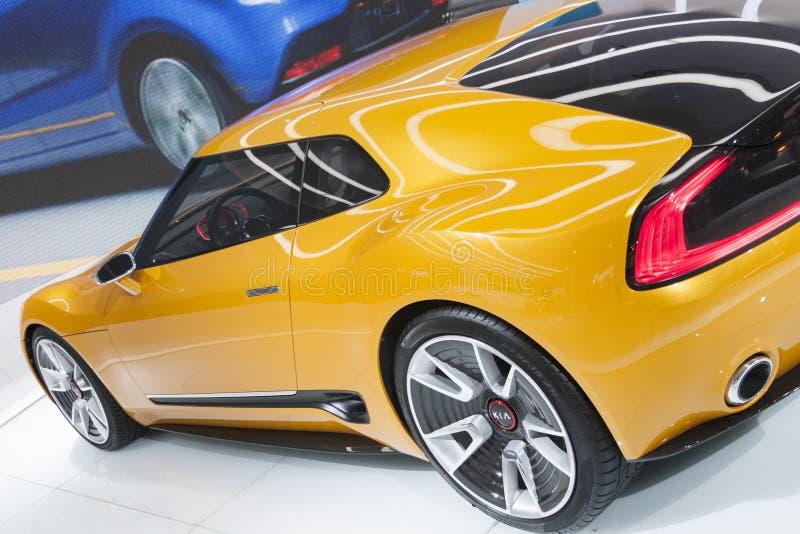 DETROIT - 26 JANVIER : La voiture de concept de Kia GT4 Stinger au ni photographie stock libre de droits